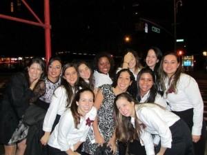 Lilia Valente,Tania Bertassoli ,Camila Ruiz e Vozes do Brasil